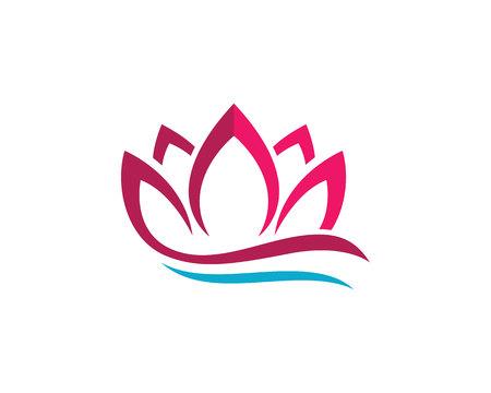 美蓮のロゴのテンプレート  イラスト・ベクター素材