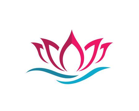 cosmetician: Beauty Lotus Logo Template