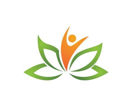 lotus flowers: Beauty Lotus Logo Template
