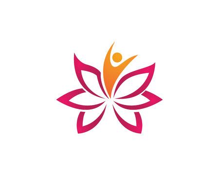 Plantilla Logotipo de la belleza de Lotus