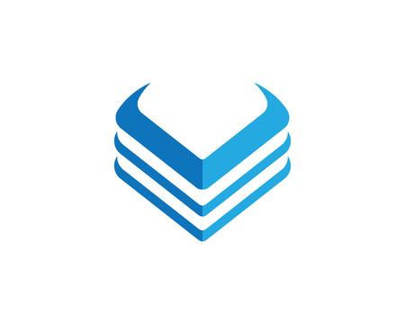 competitividad: Plantilla de logotipo de la letra V