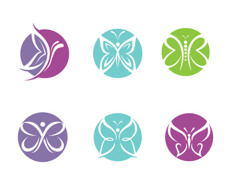 beauty icon: Beauty Butterfly Template Vector icon design Illustration