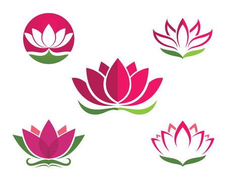 cosmetician: Beauty Vector lotus flowers design Template