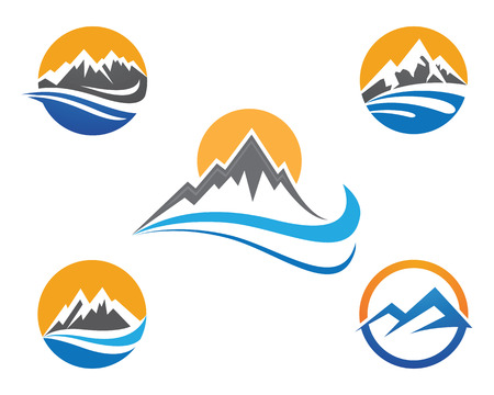 Mountains Template Illustration