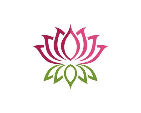Schönheit Vektor Lotusblumen-Design-Vorlage Standard-Bild - 61340439