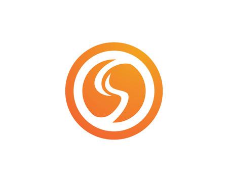 S letter Template Illustration