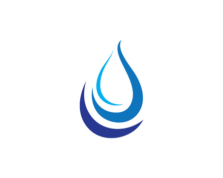 water liquid letter: Water wave Template Illustration