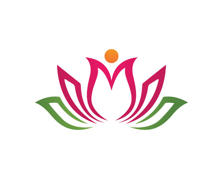 lotus flowers: Beauty Vector flowers design logo Template Illustration
