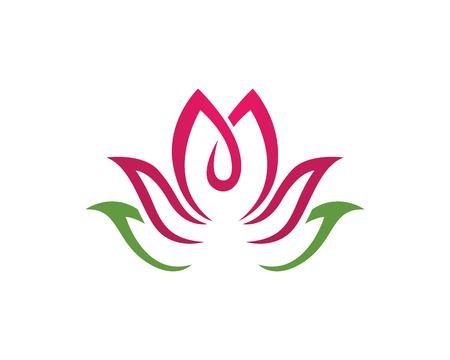 Beauty Vector flowers design logo Template Stock Illustratie