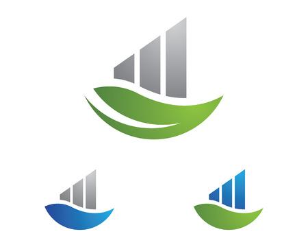 stylized banking: Business Finance Logo