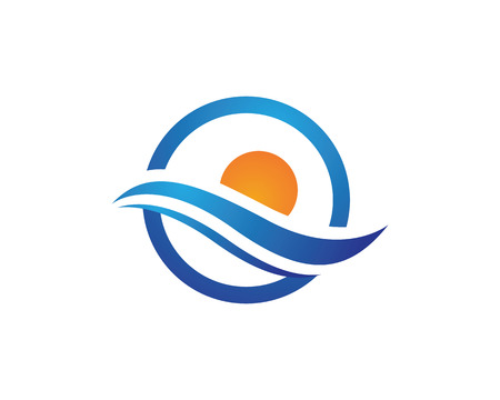 water wave: Water wave Logo Template Illustration