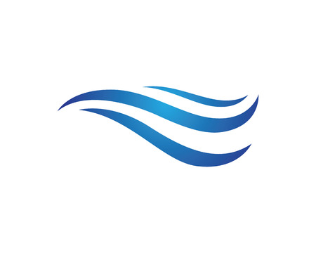 Water wave Logo Template Illustration