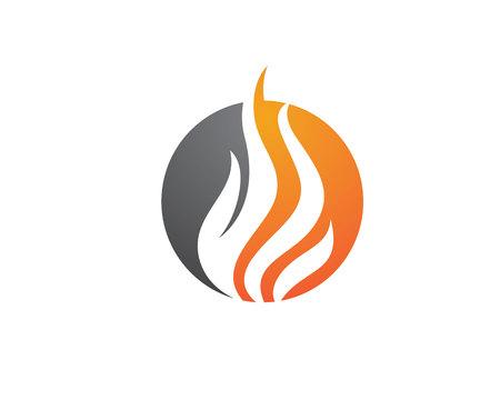 flame logo: Fire flame Logo Template