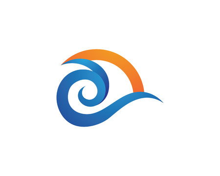 water liquid letter: Water wave Logo Template Illustration