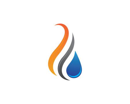 waterdruppel Logo Template vectorillustratieontwerp Logo