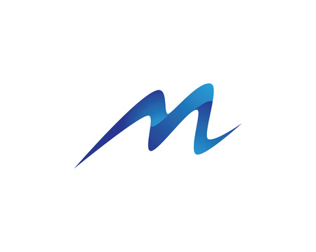 M 文字ロゴのテンプレート