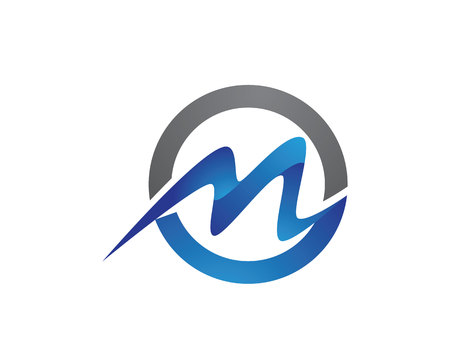 M 문자 로고 템플릿