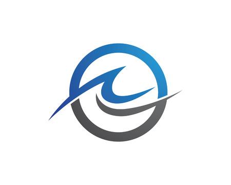 Water wave Logo Template Illusztráció