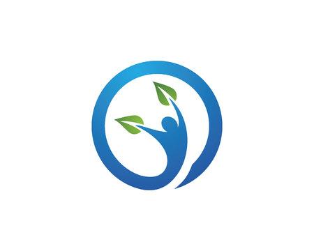 Health Logo Template Stock Vector - 63572996