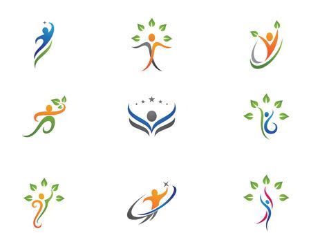 Template gezondheid Logo Stock Illustratie