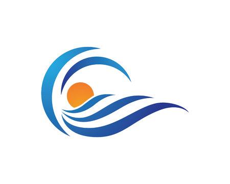 windsurf: Plantilla de la onda de agua
