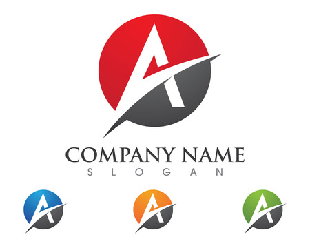alfabet: A Letter Logo Business Template Vector icon
