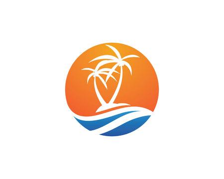 tree: Palm tree Logo Template