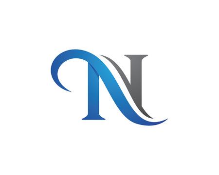 N Modèle de lettre vecteur icône