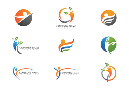fitness woman: Health Logo Template