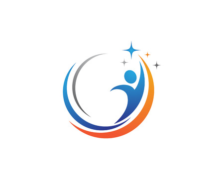 rehab: Healthy logo template