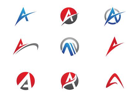 Un modelo del asunto logotipo de la letra Logos