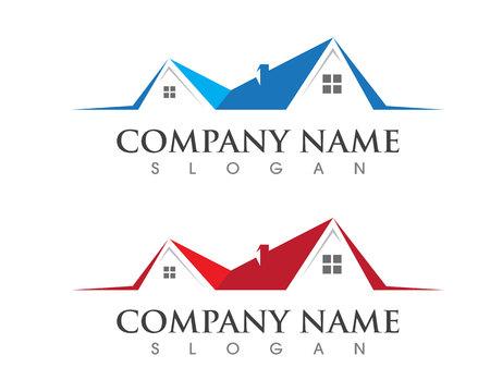 Immobilien-Logo-Vorlage Logo