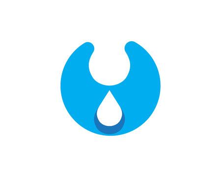 water alphabet: Water wave Logo Template Illustration