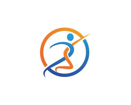 Fun people Healthy Life icon Logo template Illustration