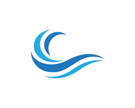 Plantilla del icono del logotipo Wave Agua Logos