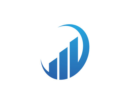 stylized banking: Business Finance professional logo template vector icon Illustration
