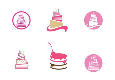 wedding cake: Wedding cake Isolated on background vector illustration