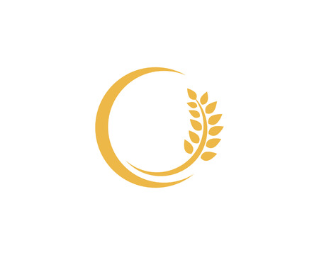 wheat Logo Template 矢量图像