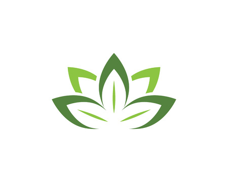 Eco Tree Leaf Logo Template 向量圖像
