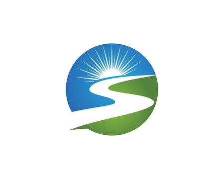 R rivière Logo Banque d'images - 67380296