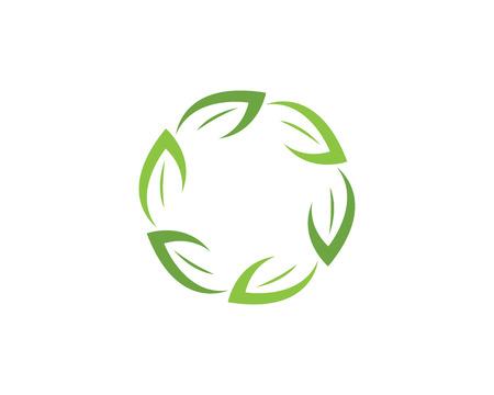 Eco Tree Leaf Logo Template Illustration