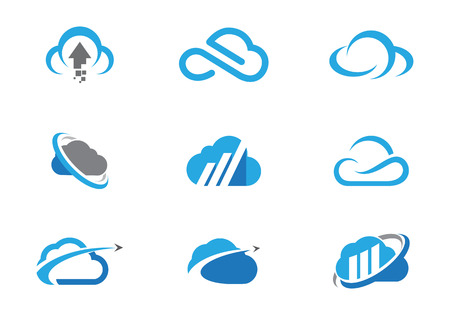 open source: Cloud logo template icon