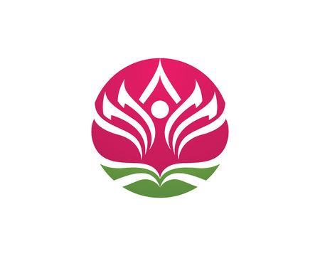 Beauty Lotus Logo Template
