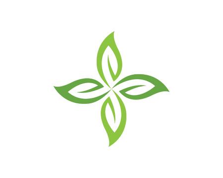 green eco: Eco Tree Leaf Logo Template Illustration
