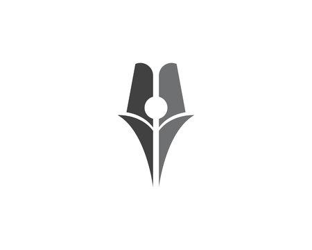 scholastic: Feather pen Logo Vector Illustration