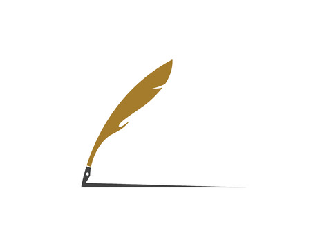 Feather pen Logo Vector Illustration