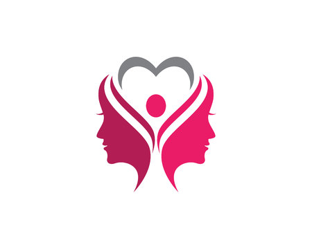 Beauty Women Icon Logo Template vector icon Logó