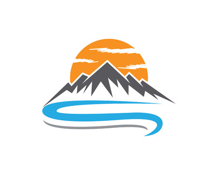 clean energy: Mountain Logo