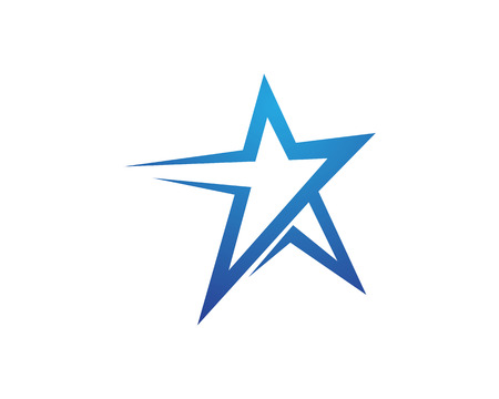 euphoria: Red and blue Star falcon Logo Template vector icon Illustration