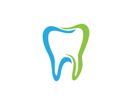 Dental logo template icon
